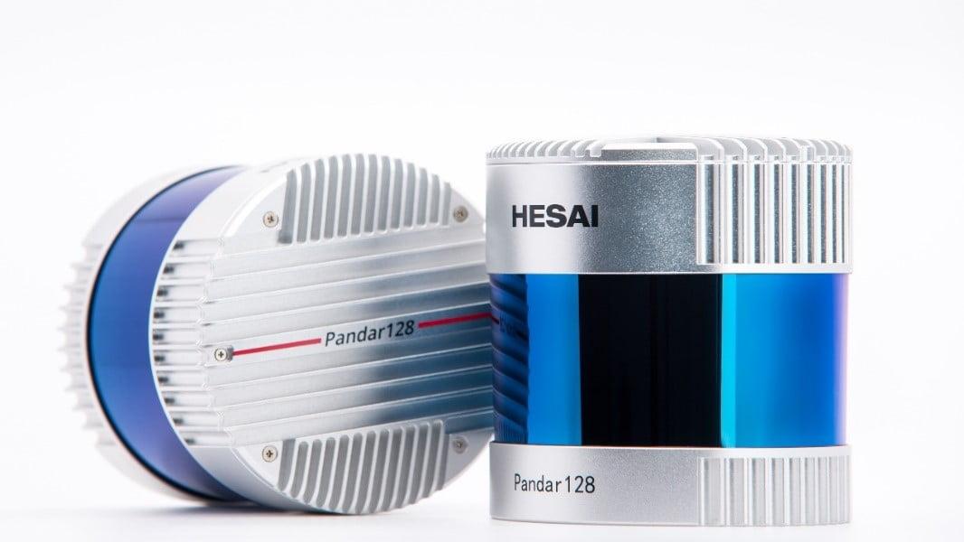 Der Lidar-Sensor Pandar128 vom Hersteller Hesai.