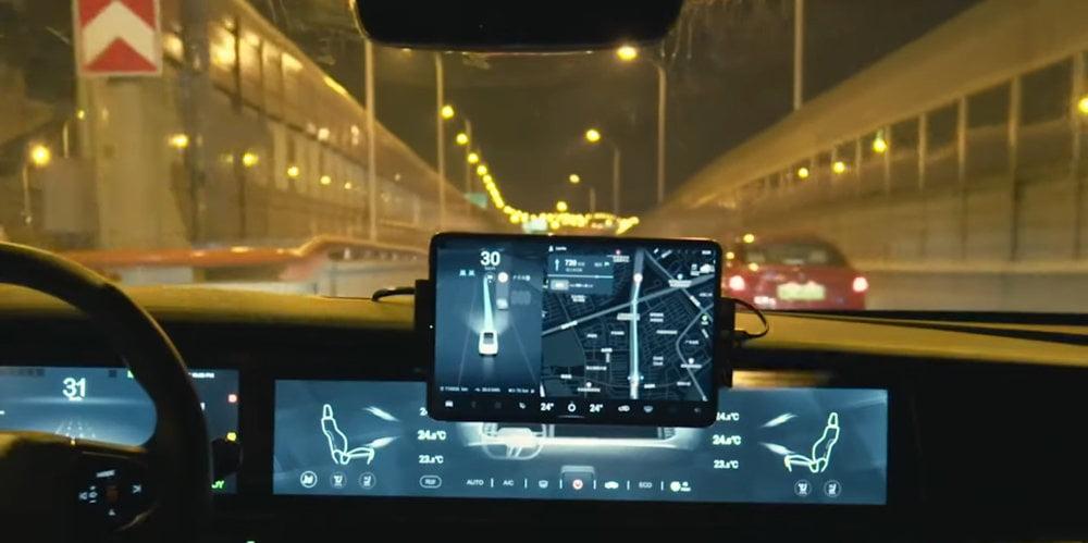 Das smarte Cockpit eines mit Huawei-Technologie ausgestatteten Arcfox-Autos.