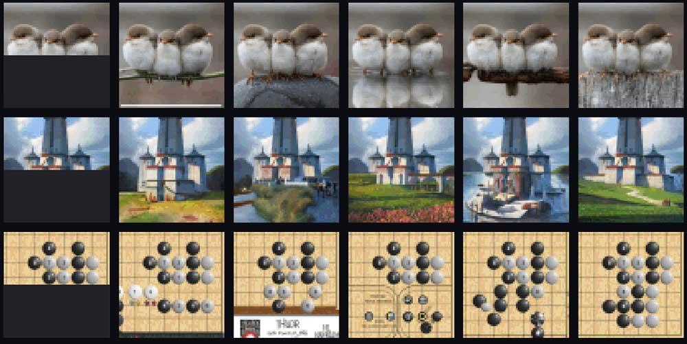 Image GPT kann auch Vögel, Landschaft und Spielbretter. | Bild: OpenAI.