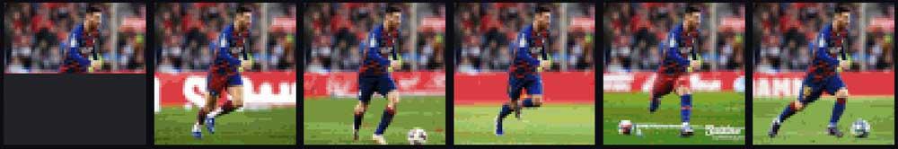 Für Fußballkönig Messi hat die KI auch ein paar Beine übrig. | Bild: OpenAI.