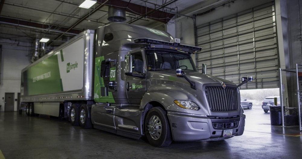 Ein autonom fahrender Truck des Herstellers TuSimple.