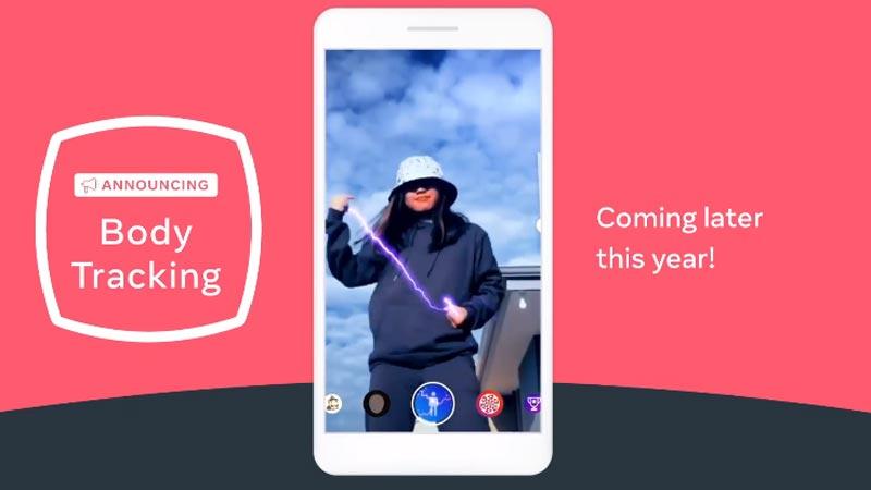 Mit dem neuen Smartphone-AR-Ganzkörpertracking können dynamischie AR-Effekte auf den ganzen Körper angewandt werden. | Bild: Facebook