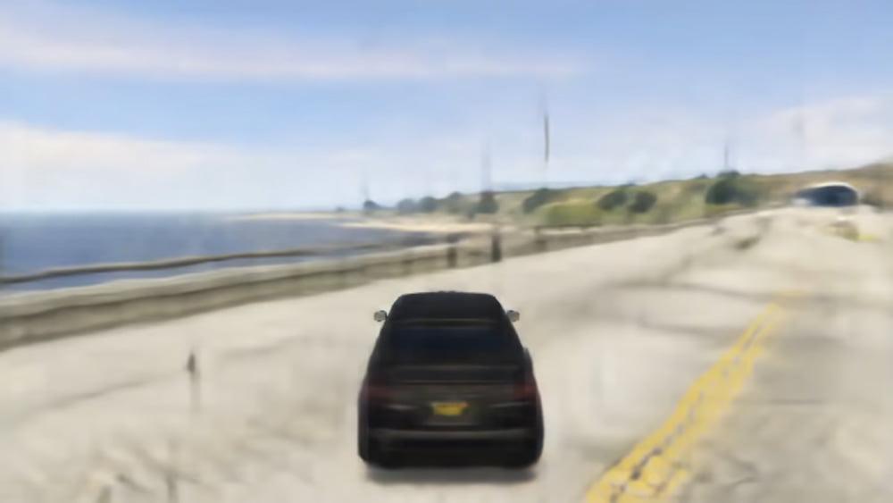 Mit Nvidias Game GAN generieren Hobby-KI-Tüftler eine komplett KI-generierte 3D-Spielszene aus GTA 5.