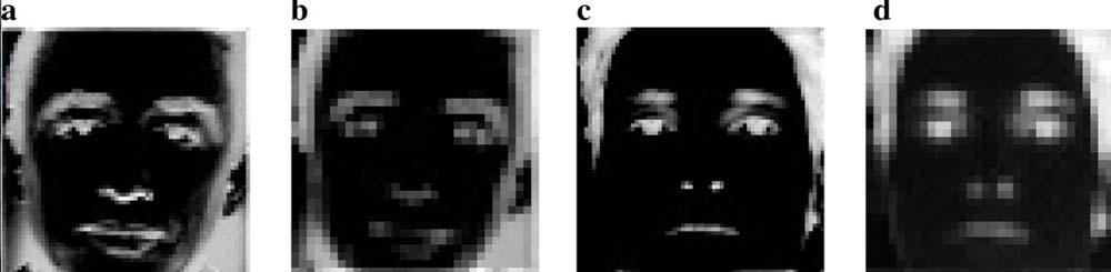 Die Person (a) soll kriminell sein oder werden, die KI-Bildanalyse (b) ist die Beweisführung. Person (c) ist laut KI fein raus. | Bild: