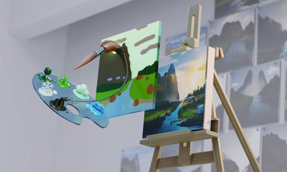 Nvidia Canvas: Kostenloses KI-Tool malt automatisch Landschaften