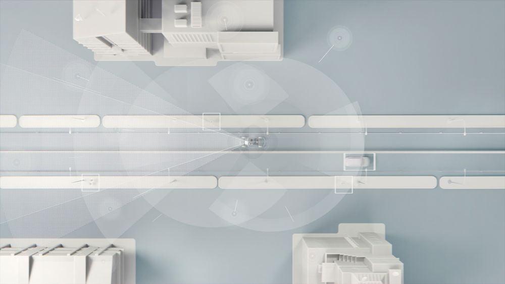 Eine Konzeptzeichnung eines autonom fahrenden Autos von Volvo.