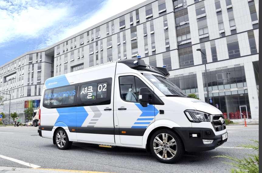 Hyundais autonom fahrender Shuttle-Bus H350.