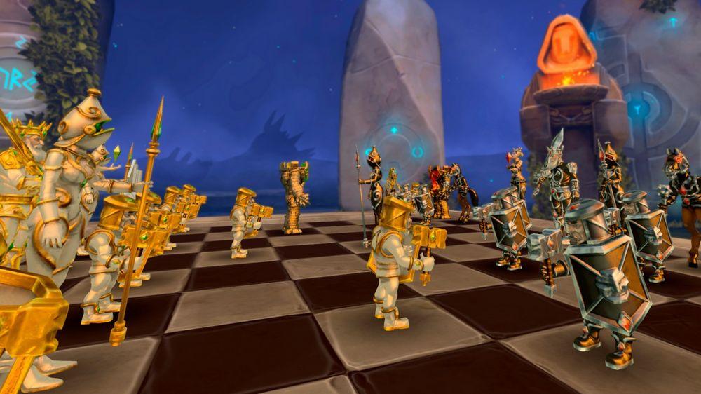Fantasy-Figuren auf dem VR-Schachbrett von Chess Club