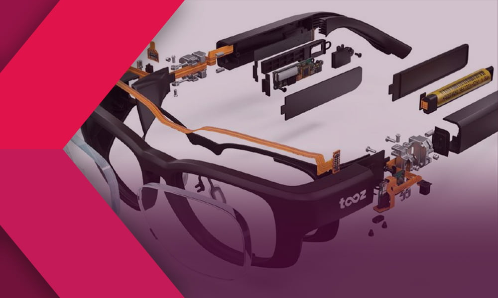 Die Bauteile der Datenbrille Tooz
