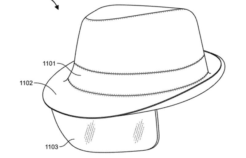 Die elegante Lösung für Cyber-Detektive: Ein Fedora mit eingebautem AR-Hud.   Bild: Facebook