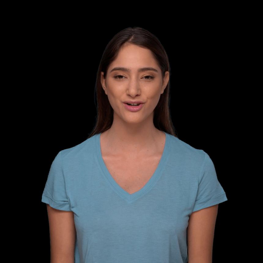 Liras Deepfake-Avatar kann in vielen Rollen und Videos auftreten. | Bild: Hour One