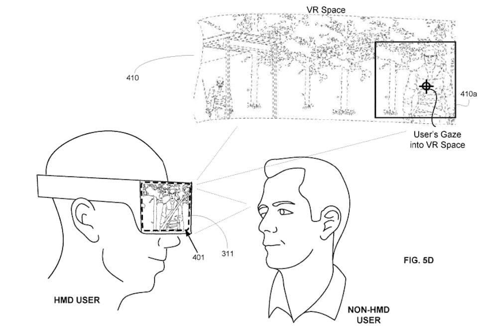 Sony_Patent_VR_Brille_mit_integriertem_Second_Screen