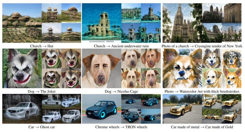KI-generierte Bilder, etwa von einem Hund der die Augenpartie von Nicolas Cage trägt