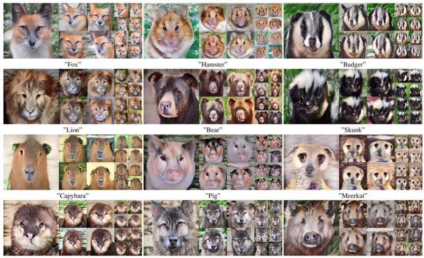 Einige vom Netz generierte Tierbilder