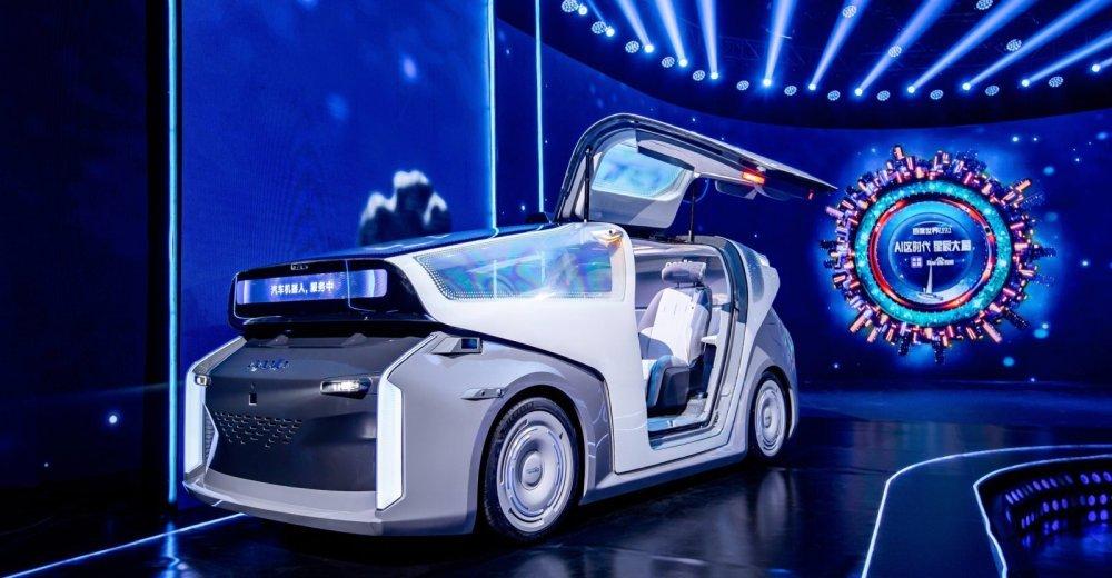 Baidus neues Roboter-Auto fährt autonom, spricht und denkt mit.   Bild: Baidu