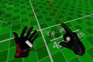 Zwei digitale Hand-Modelle