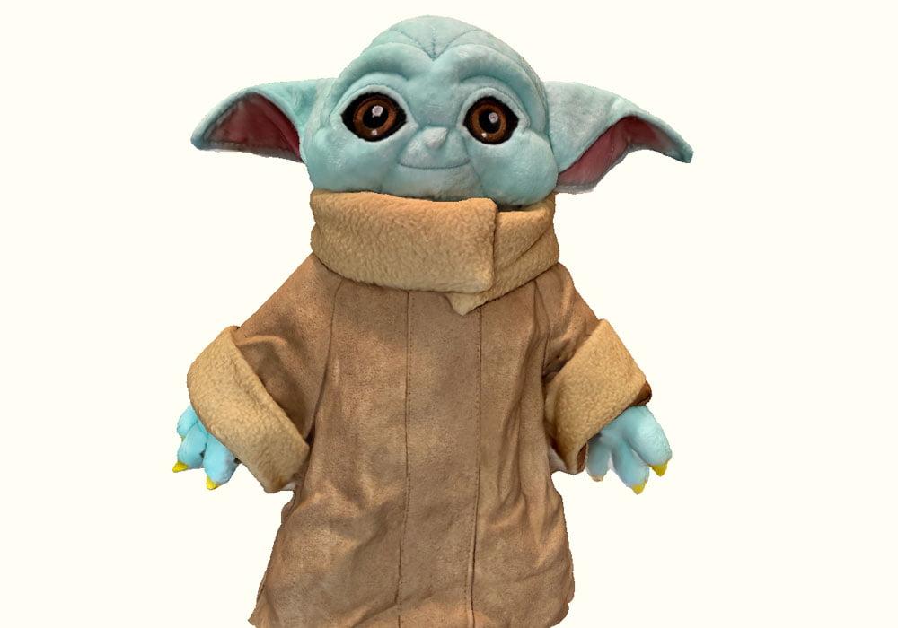 3D-Scan eines Yoda Plüschtiers