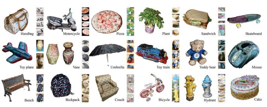 3D-Rekonstruktionen von verschiedenen Gegenständen
