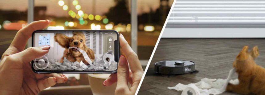 Zugriff auf die HD-Kamera eines Ecovacs Haushaltsroboters per Smartphone-App.
