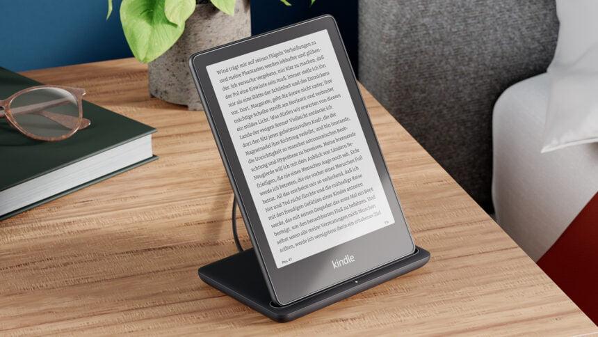 Bei der Kindle Paperwhite Signature Edition wird erstmals drahtloses Laden möglich sein.