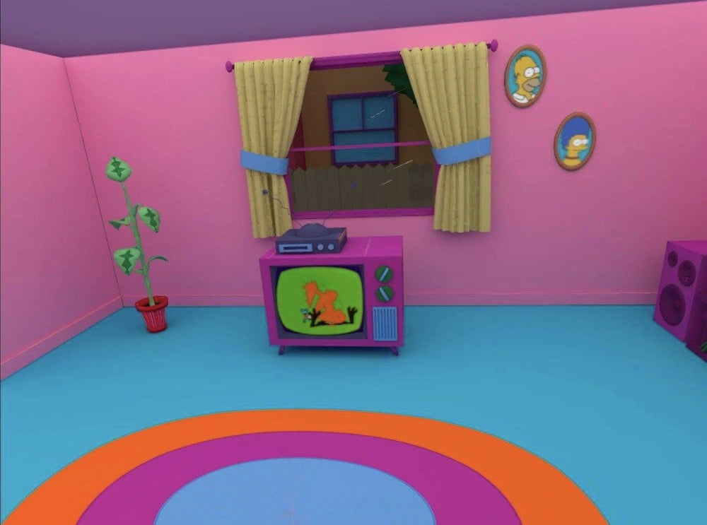 Custom Quest_Home_Simpsons_Room_Fernseher