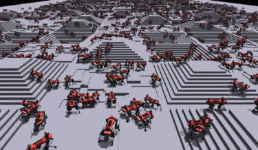 Nvidia: Mit Massen-KI-Training in Minuten zum Lauf-Roboter