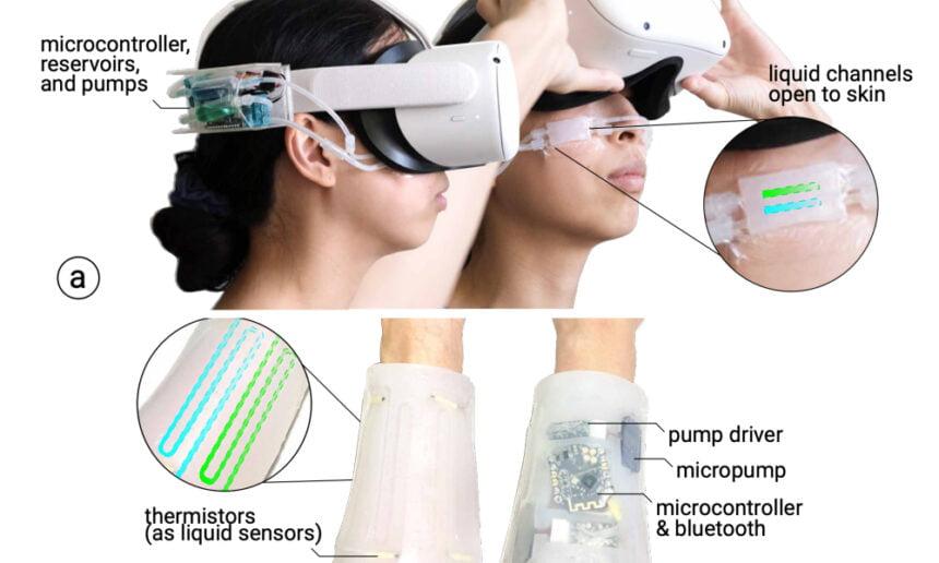 """Die Hardware für das """"Silikonpflaster"""" ist, im Vergleich zu anderen Haptik-VR-Ansätzen, recht einfach gehalten."""