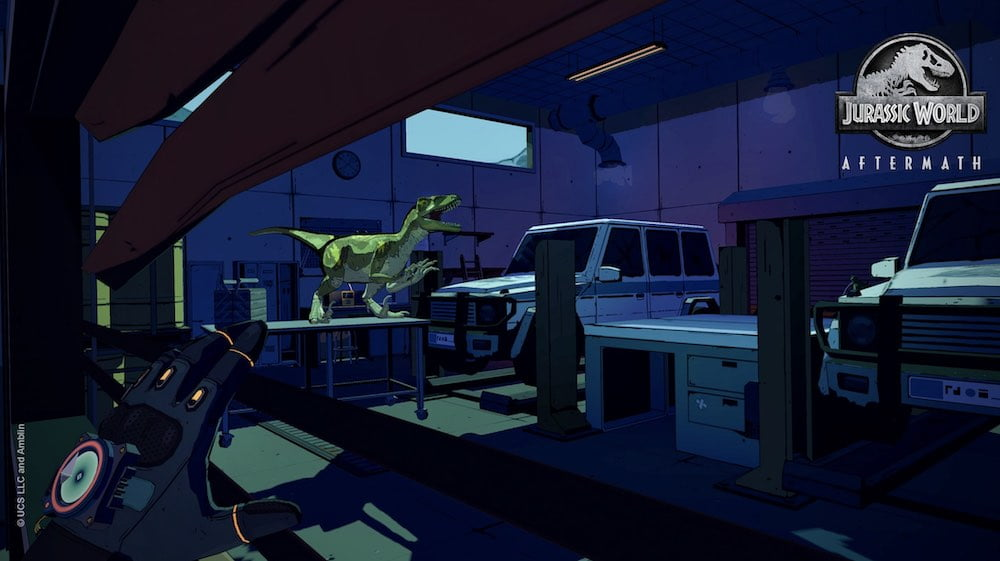 Jurassic_World_Aftermath_Velociraptor_in_Garage