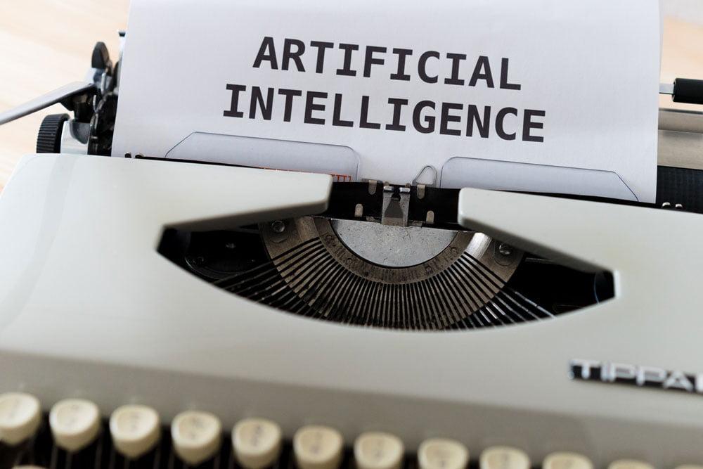 Artificial Intelligence Schriftzug