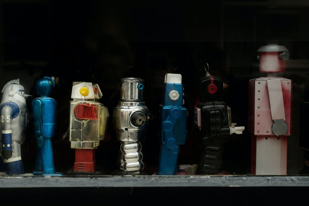 Mehrere Roboter hintereinander
