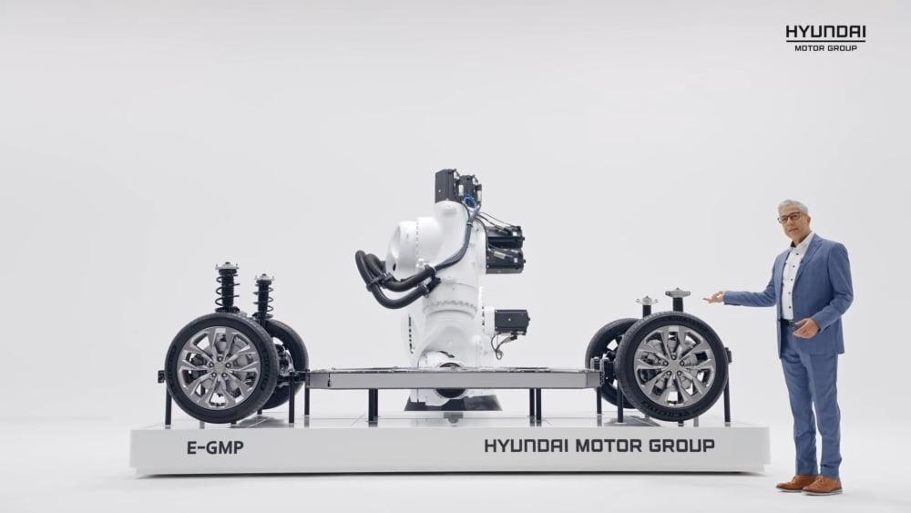 Die Hyundai E-GMP-Plattform für elektrisch betriebene Fahrzeuge.
