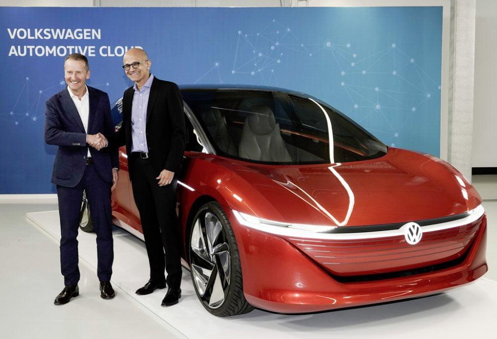 | VW und Microsoft arbeiten an Cloud Plattform HEADER