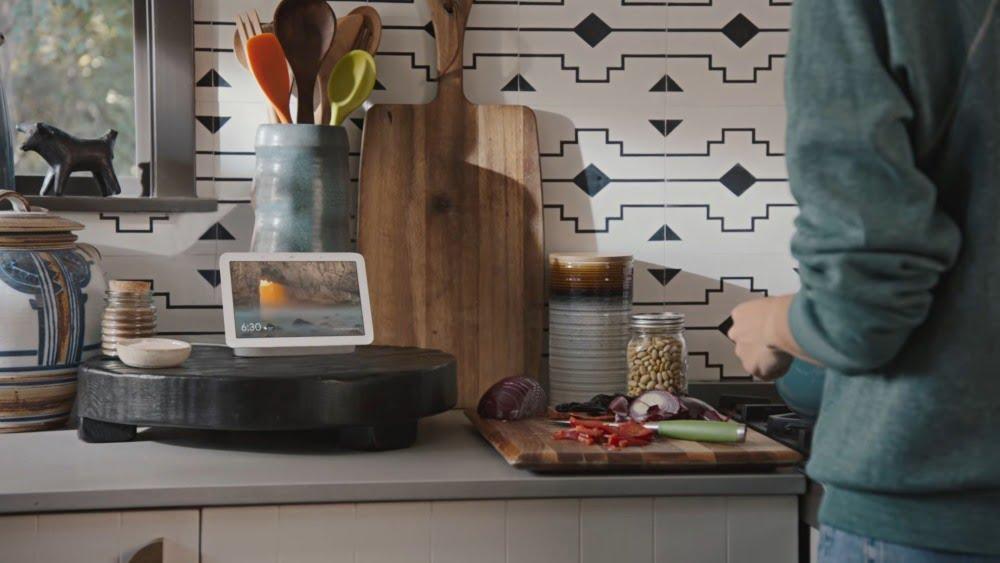 Das Smart-Display Google Nest Hub der zweiten Generation.