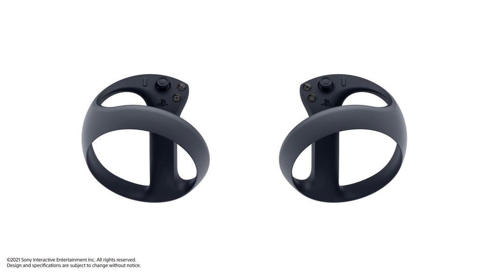 Die neuen PSVR-Controller für PS5 zeigen den Tracking-Ring rund um das Handgelenk des Nutzers.