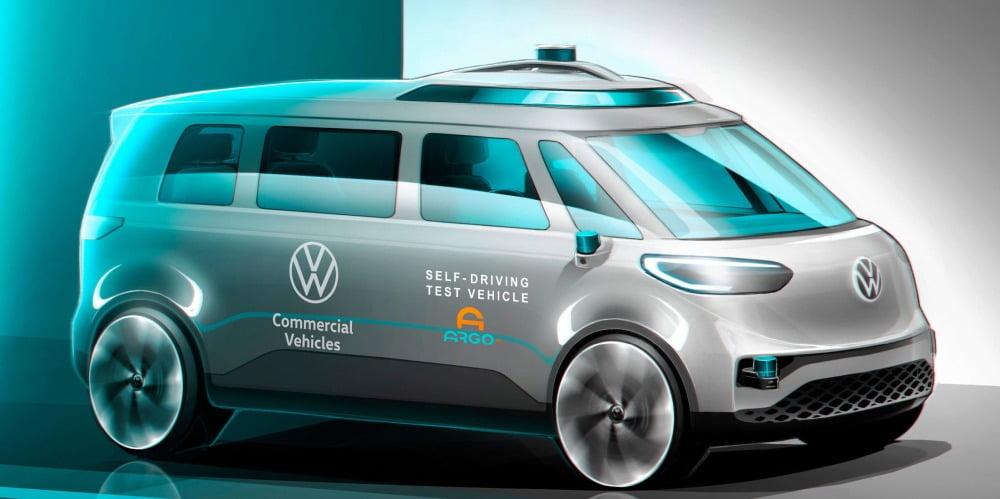 Volkswagen stattet den ID. BUZZ mit einem autonomen Fahrsystem von Argo AI aus.